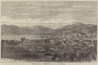 Town and Port of Wellington, the Capital of New Zealand--Giclee Print