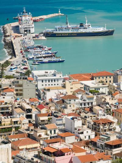 Town and Port, Zakynthos, Ionian Islands, Greece-Walter Bibikow-Photographic Print