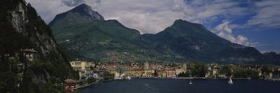 Town at the Waterfront, Riva Del Garda, Italy--Photographic Print