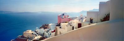 Town at the Waterfront, Santorini, Cyclades Islands, Greece--Photographic Print