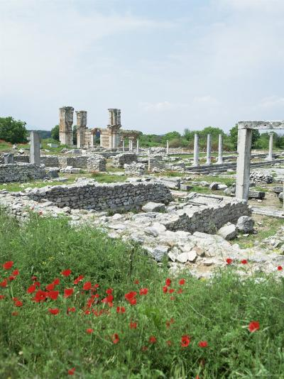 Town Built for Octavia Over the Assassins of Julius Caesar in 42 Bc, Philippi (Filipi), Greece-Tony Gervis-Photographic Print
