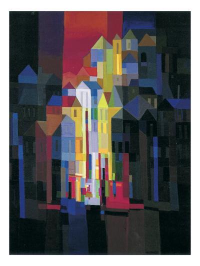 Town by Night-Ton Schulten-Art Print