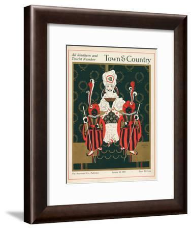 Town & Country, January 10th, 1915--Framed Art Print