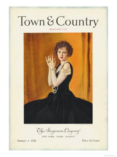 Town & Country, January 1st, 1923--Art Print