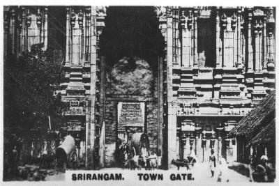 Town Gate, Srirangam, India, C1925--Giclee Print