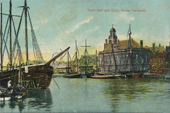 Town hall and quay, Great Yarmouth, Norfolk, c1905-Unknown-Giclee Print
