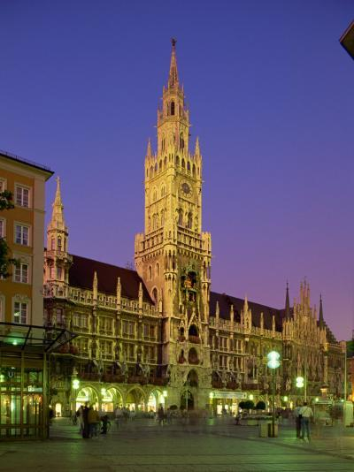Town Hall at Night in the City of Munich, Bavaria, Germany, Europe-Scholey Peter-Photographic Print