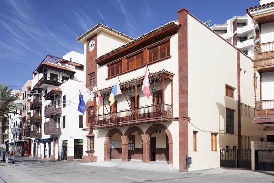 Town Hall at Plaza De Las Americas Square, San Sebastian, La Gomera, Canary Islands, Spain, Europe-Markus Lange-Photographic Print