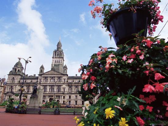 Town Hall, George Square, Glasgow, Scotland, United Kingdom-Yadid Levy-Photographic Print