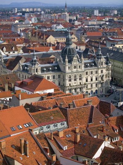 Town Hall, Graz, Styria, Austria-Walter Bibikow-Photographic Print