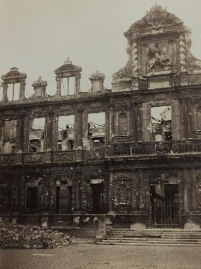 Town Hall in Reims Damaged During the Bombing of World War I--Photographic Print