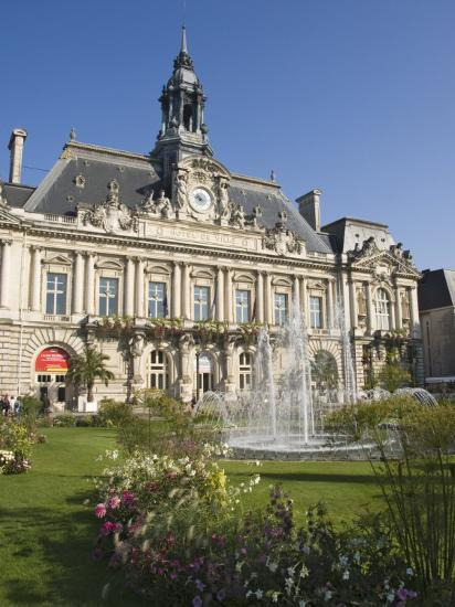 Town Hall in the City of Tours, Indre Et Loire, Loire Valley, Centre, France, Europe-James Emmerson-Photographic Print