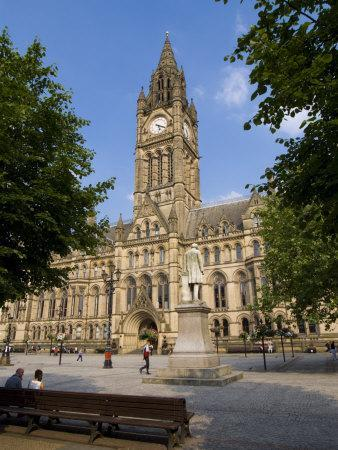 Town Hall, Manchester, England, United Kingdom, Europe-Charles Bowman-Photographic Print