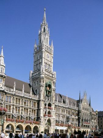 Town Hall, Munich, Bavaria, Germany-Peter Scholey-Photographic Print