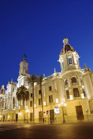 Town Hall, Plaza Del Ayuntamiento, Valencia, Spain, Europe-Neil Farrin-Photographic Print