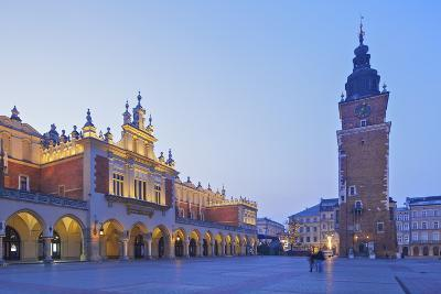 Town Hall Tower and Cloth Hall, Market Square, Krakow, Poland, Europe-Neil Farrin-Photographic Print