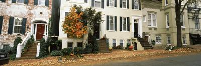 Town Homes and Fall Foliage in Georgetown Historic District, Georgetown, Washington DC, USA--Photographic Print