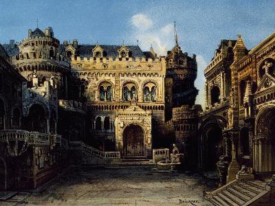 Town of Antwerpen, Set Design-Max Bruckner-Giclee Print
