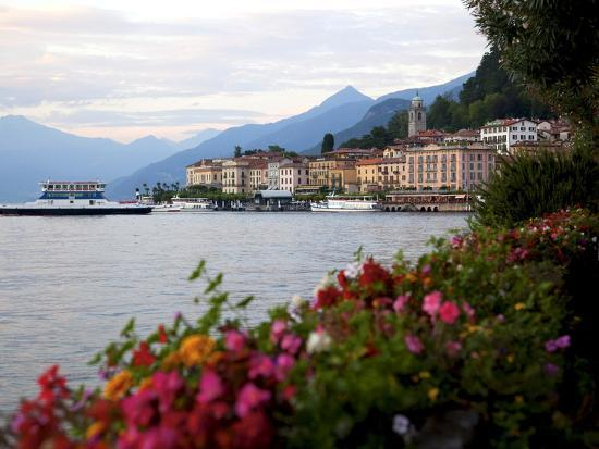 Town of Bellagio and Lake Como, Lombardy, Italian Lakes, Italy, Europe-Frank Fell-Photographic Print