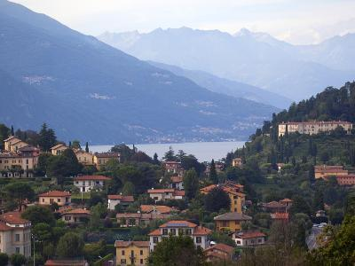 Town of Bellagio and Mountains, Lake Como, Lombardy, Italian Lakes, Italy, Europe-Frank Fell-Photographic Print