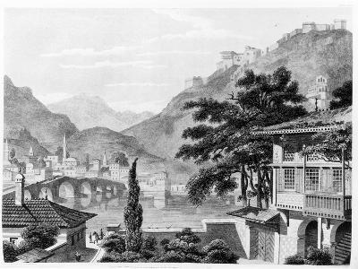 Town of Berat in Early 19th Century, from 'travels in Sicily, Greece and Albania' by Thomas Smart…-Charles Robert Cockerell-Giclee Print