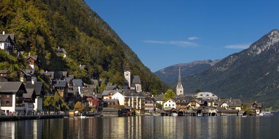Town of Hallstatt, Hallstattersee, Saltzkammergut, Austria-Brian Jannsen-Photographic Print