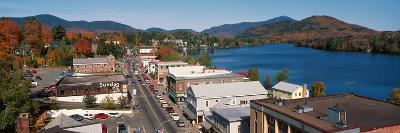 Town of Lake Placid in Autumn, New York--Photographic Print