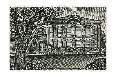 Town of Ulyanovsk. The House Where Lenin Was Born, 1968-Masabikh Akhunov-Giclee Print