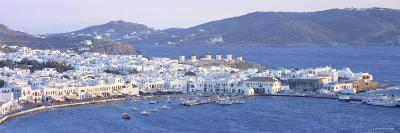 Town on the Waterfront, Mykonos Harbor, Cyclades Islands, Greece--Photographic Print