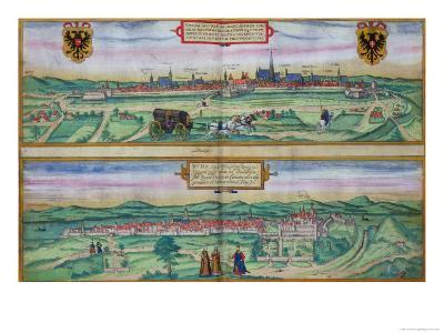 "Town Plan of Vienna and Buda, from ""Civitates Orbis Terrarum""-Joris Hoefnagel-Giclee Print"
