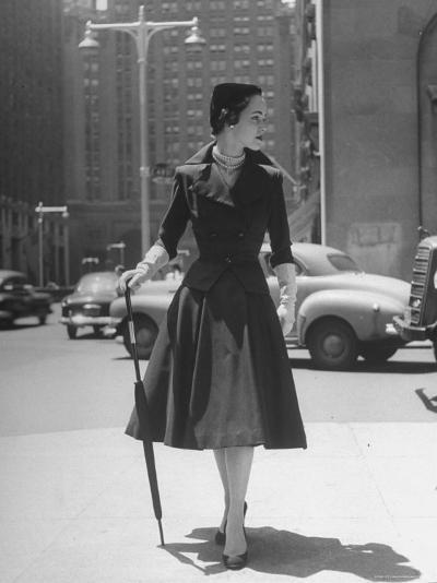Town Suit, Triangular Button Closings, Can Be Worn All Year Round-Nina Leen-Photographic Print