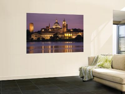 Town View and Palazzo Ducale From Lago Inferiore, Mantua, Italy-Walter Bibikow-Wall Mural