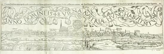Town View of Vienna in 1548, 1550-Hans Rudolf Manuel Deutsch-Premium Giclee Print