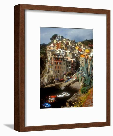 Town View, Rio Maggiore, Cinque Terre, Italy-Alison Jones-Framed Photographic Print