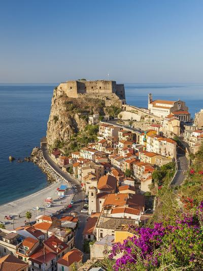 Town View With Castello Ruffo, Scilla, Calabria, Italy-Peter Adams-Photographic Print