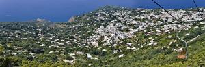 Town Viewed from a Chair Lift, Anacapri, Capri, Naples, Campania, Italy