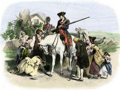 Townspeople of Winchester, Virginia, Appeal to George Washington, French and Indian War--Giclee Print