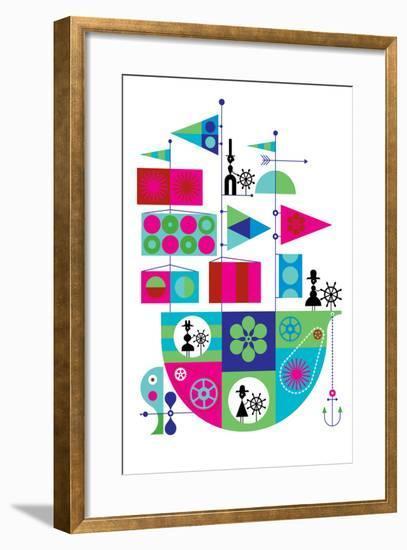 Toy Boat-Melinda Beck-Framed Art Print
