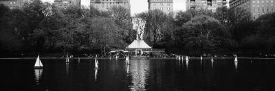 Toy Boats Floating on Water, Central Park, Manhattan, New York City, New York State, USA--Photographic Print