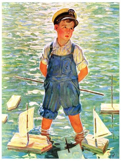 """""""Toy Sailboats,""""June 24, 1933-Eugene Iverd-Giclee Print"""