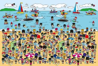 Toy Soldiers - Beach-The Paper Stone-Giclee Print