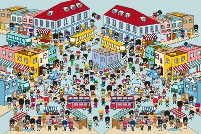 Toy Soldiers - Town-The Paper Stone-Giclee Print