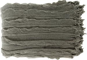 Toya Throw - Charcoal/Light Gray