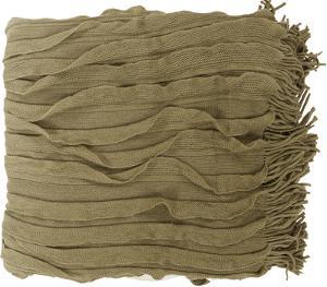 Toya Throw - Olive/Ivory