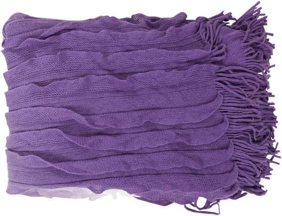 Toya Throw - Violet/Ivory--Home Accessories