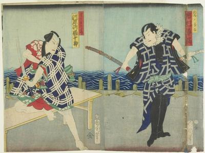 Ichimura Kakitsu I as Chokichi, Kawarasaki Gonjuro I as a Gallant, January 1866