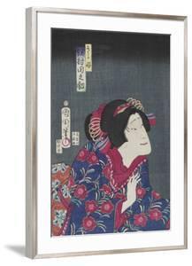 Sawamura Tanosuke as Princess Kiyo, February 1868 by Toyohara Kunichika