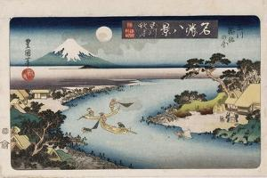 Autumn Moon, Tama River', from the Series 'Eight Views of Famous Places' by Toyokuni II