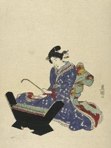Mokkin, Wooden Xylophone by Toyokuni