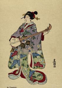 Shamisen by Toyokuni